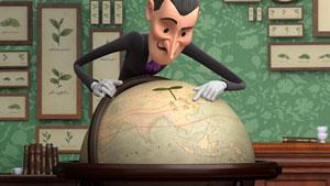 Explorer examines globe